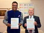 Professor David Sadler and Professor C. Raj Kumar signed the MoU