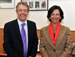 Queen Mary Principal Professor Simon Gaskell and Ana Botin, Santander CEO