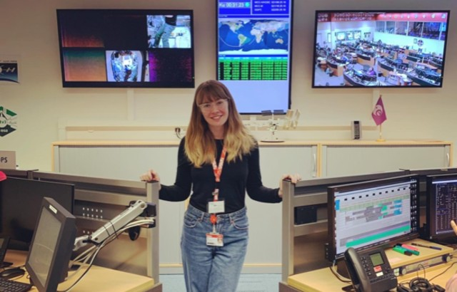Nina at the European Space Agency's Columbus Control Centre