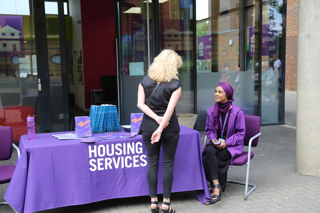 Housing services welcome desk