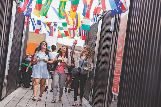 Students enjoying International events on campus