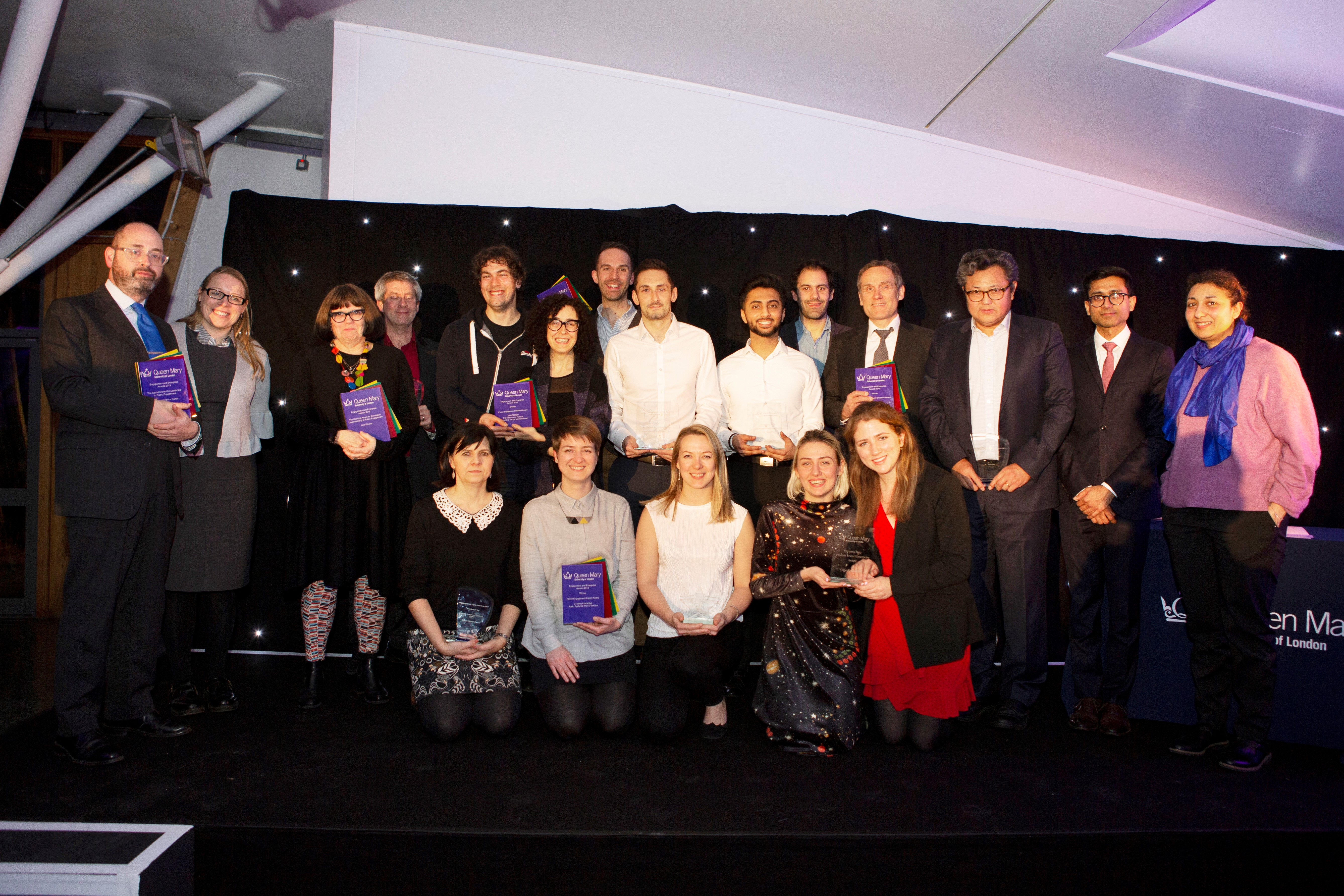 Winners of the Engagement and Enterprise Awards 2019