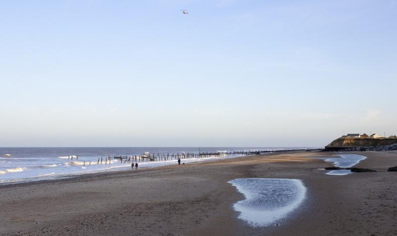 The beach at Happisburgh
