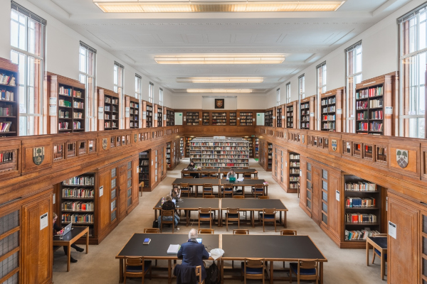 Inside the Senate House library