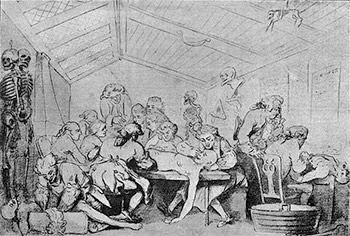 The Dissecting Room by Rowlandson - Courtesy of Project Gutenberg