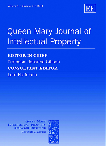 Queen Mary Journal of Intellectual Property QMJIP cover