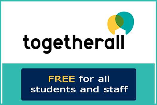 Link to Togetherall, a free online wellbeing resource for all staff and students