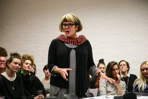 Lois Weaver hosting the Live Art and Feminism at the Live Art Development Agency, London