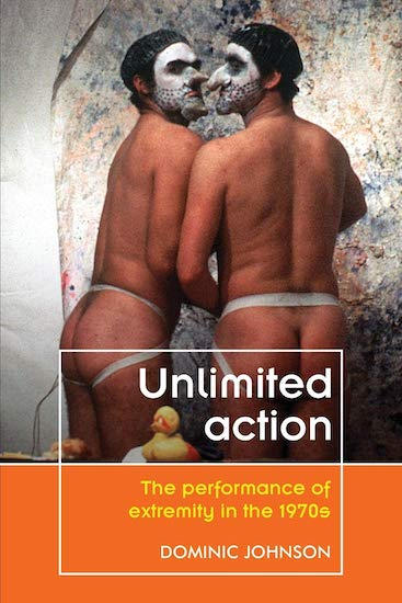 Book cover image of Johnson's book Unlimited Action featuring a photograph of the Kipper Kids