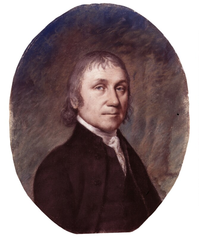 Portrait of Joseph Priestley, by Ellen Sharples (1797) Copyright Trustees of the National Portrait Gallery
