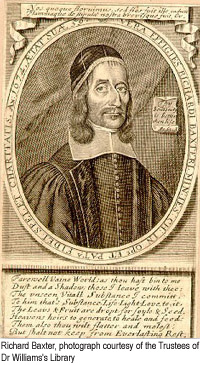 Frontispiece engraving portrait of Richard Baxter