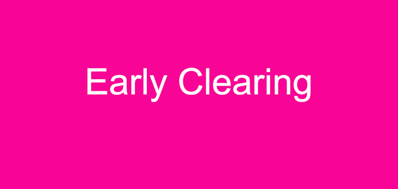 Early Clearing banner