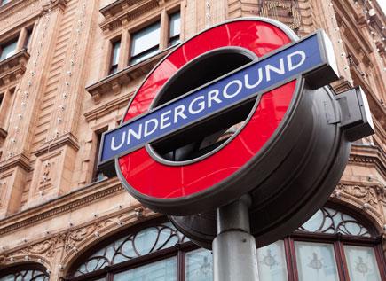 London Underground tube station sign