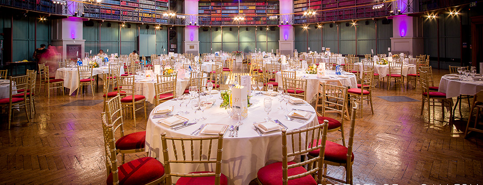 The Octagon ready for a wedding reception